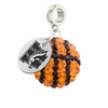 Western Michigan Crystal Drop Charm