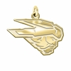 Western State Colorado Mountaineers 14K Yellow Gold Natural Finish Cut Out Logo Charm