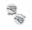 Western State Colorado Mountaineers Cufflinks Stainless Steel Round Top