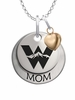 Western State Colorado Mountaineers MOM Necklace with Heart Charm
