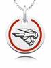Western State Colorado Mountaineers Round Enamel Charm