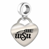 Wichita State Engraved Heart Dangle Charm