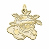 Wichita State Shockers 14K Yellow Gold Natural Finish Cut Out Logo Charm