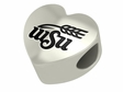 Wichita State Shockers Heart Shape Bead