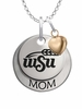 Wichita State Shockers MOM Necklace with Heart Charm