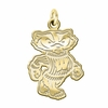 Wisconsin Badgers 14K Yellow Gold Natural Finish Cut Out Logo Charm