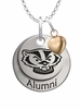 Wisconsin Badgers Alumni Necklace with Heart Accent