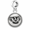 Wisconsin Badgers Border Round Dangle Charm