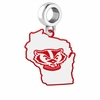 Wisconsin Badgers Logo Dangle Charm