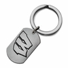 Wisconsin Badgers Stainless Steel Key Ring