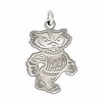 Wisconsin Badgers Natural Finish Charm