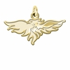 Wisconsin-Green Bay Phoenix 14K Yellow Gold Natural Finish Cut Out Logo Charm