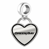 Wisconsin-Green Bay Phoenix Border Heart Dangle Charm