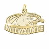 Wisconsin Milwaukee Panthers 14K Yellow Gold Natural Finish Cut Out Logo Charm
