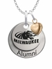 Wisconsin Milwaukee Panthers Alumni Necklace with Heart Accent