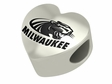 Wisconsin Milwaukee Panthers Heart Shape Bead
