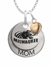 Wisconsin Milwaukee Panthers MOM Necklace with Heart Charm
