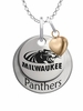 Wisconsin Milwaukee Panthers with Heart Accent