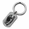 Wisconsin Milwaukee Stainless Steel Key Ring