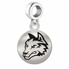 Wright State Round Dangle Charm