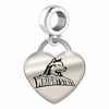 Wright State Engraved Heart Dangle Charm