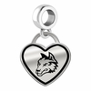 Wright State Raiders Border Heart Dangle Charm