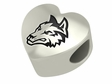 Wright State Raiders Heart Shape Bead