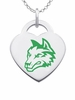 Wright State Raiders Logo Heart Pendant With Color