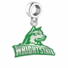 Wright State Raiders Silver Logo and School Color Drop Charm