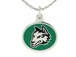 Wright State Silver Enamel Charm