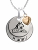 Wright State University Alumni Necklace with Heart Accent