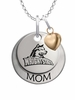 Wright State University MOM Necklace with Heart Charm