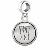 Wyoming Cowboys Border Round Dangle Charm