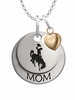 Wyoming Cowboys MOM Necklace with Heart Charm