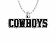 Wyoming Cowboys Word Mark Charm