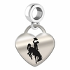 Wyoming Engraved Heart Dangle Charm