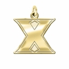 Xavier Musketeers 14K Yellow Gold Natural Finish Cut Out Logo Charm