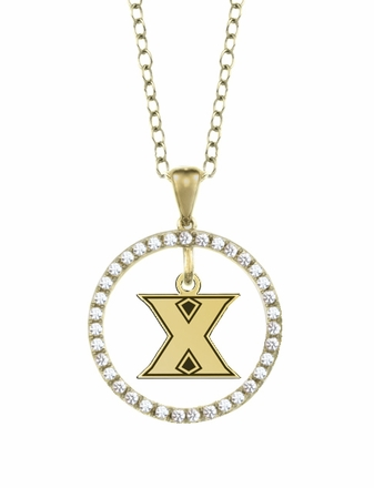Xavier Musketeers Gold and Diamond Circle Pendant