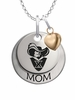 Xavier Musketeers MOM Necklace with Heart Charm