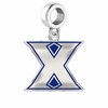 Xavier Musketeers Silver Logo and School Color Drop Charm