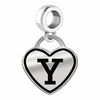 Yale Bulldogs Border Heart Dangle Charm