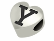 Yale Bulldogs Heart Shape Bead