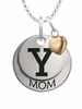Yale Bulldogs MOM Necklace with Heart Charm