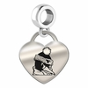 Youngstown State Engraved Heart Dangle Charm