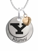 Youngstown State Penguins Alumni Necklace with Heart Accent