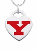 Youngstown State Penguins Logo Heart Pendant With Color
