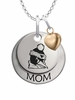 Youngstown State Penguins MOM Necklace with Heart Charm