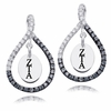 Zeta Tau Alpha Black and White Figure 8 Earrings