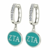 Zeta Tau Alpha Hoop Earrings
