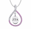 Zeta Tau Alpha Pink Figure 8 Necklace